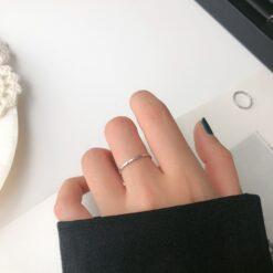 [925純銀]百搭波浪戒指