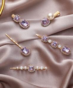 復古水鉆珍珠發夾