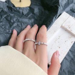 [925純銀]個性珍珠戒指