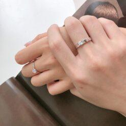 [925純銀]精致鑲鉆戒指