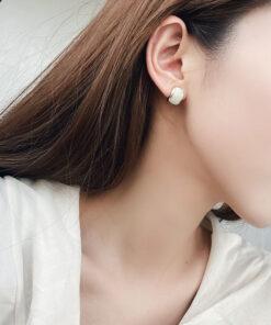 [鋼針]復古琺瑯釉耳釘