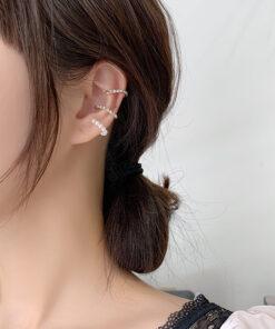 [耳骨夾]復古珍珠水鉆耳骨夾