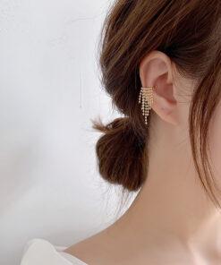[耳骨夾]氣質鏈條流蘇耳骨夾