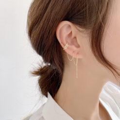 [鋼針]耳骨夾一體式耳線