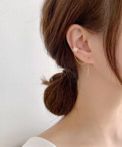 [耳骨夾]耳線一體式流蘇耳夾