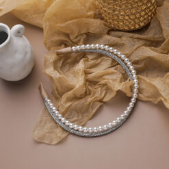復古百搭珍珠髪箍