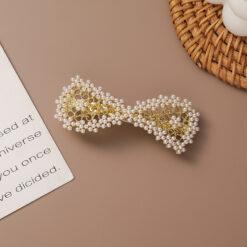 可愛珍珠一字夾