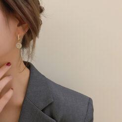[925銀針]小眾滿鉆圈圈耳環