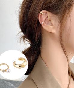 [耳骨夾]小眾珍珠水鉆耳骨夾