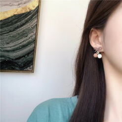 [925銀針]簡約撞色小球耳環