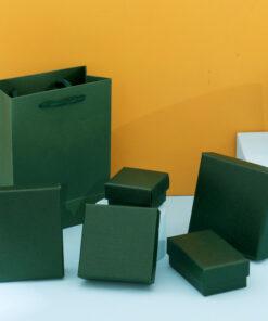 墨綠色項鏈耳環收納盒