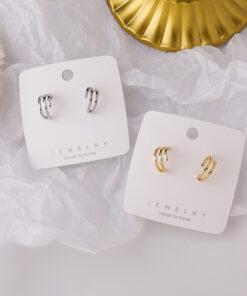 [鋼針]復古C型小圈圈耳環