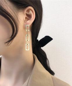 [925銀針]復古鏈條耳釘