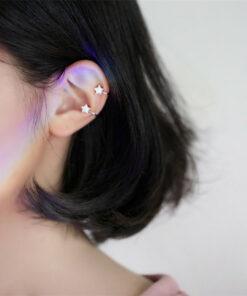 [耳骨夾]可愛鋯石五角星耳夾