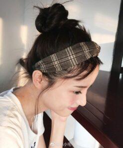 百搭格子條紋髪箍