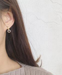 [925銀針]甜美清新鋯石耳環