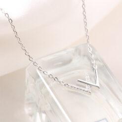 [925純銀]簡約字母鎖骨鏈