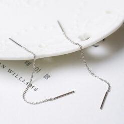[鋼針]簡約耳線短款耳環