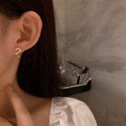 [925銀針]趣味問號耳環