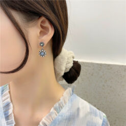 [925銀針]復古高級感耳環