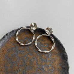 [925純銀]復古大圈圈耳釘