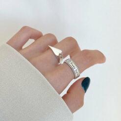 [925純銀]不規則愛心戒指
