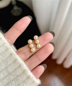 [925銀針]簡約個性珍珠耳釘