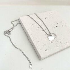 [925純銀]氣質雙層愛心項鏈
