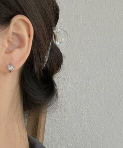 [925純銀]甜美蝴蝶結耳扣