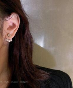 [925銀針]個性五角星耳環