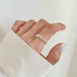 [925純銀]三層光洙戒指