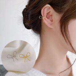 [耳骨夾]簡約蝴蝶結耳骨夾
