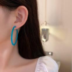 [925銀針]個性幾何C形耳環